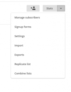 MailChimp how to navigate to create a list