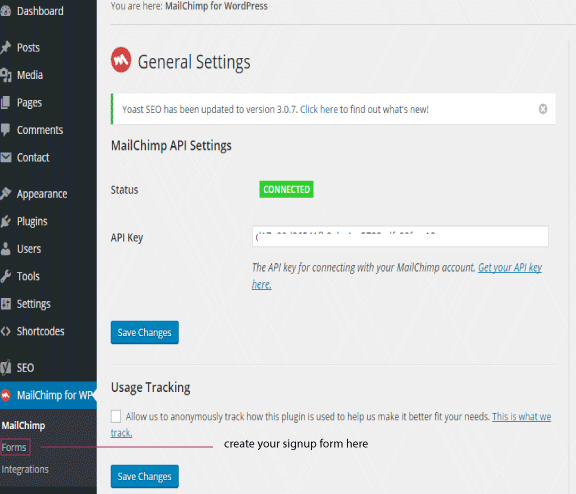 MailChimp plugin forms
