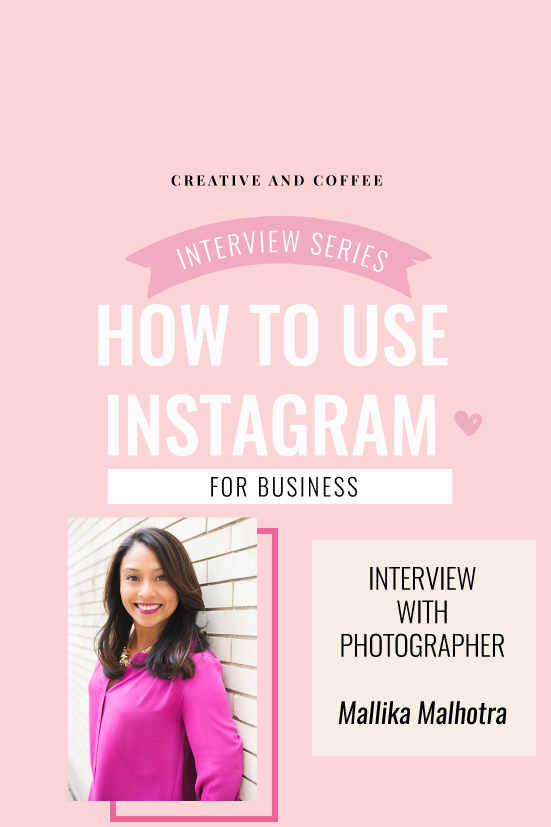 How to use an Instagram account to help promote your business and gain clients. An interview with photographer Mallika Malhotra