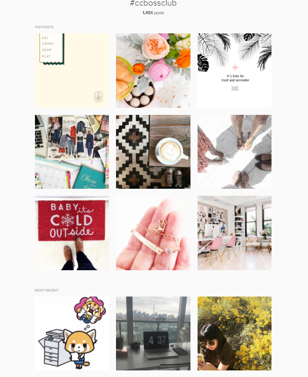 #ccbossclub for Creative and Coffee Instagram