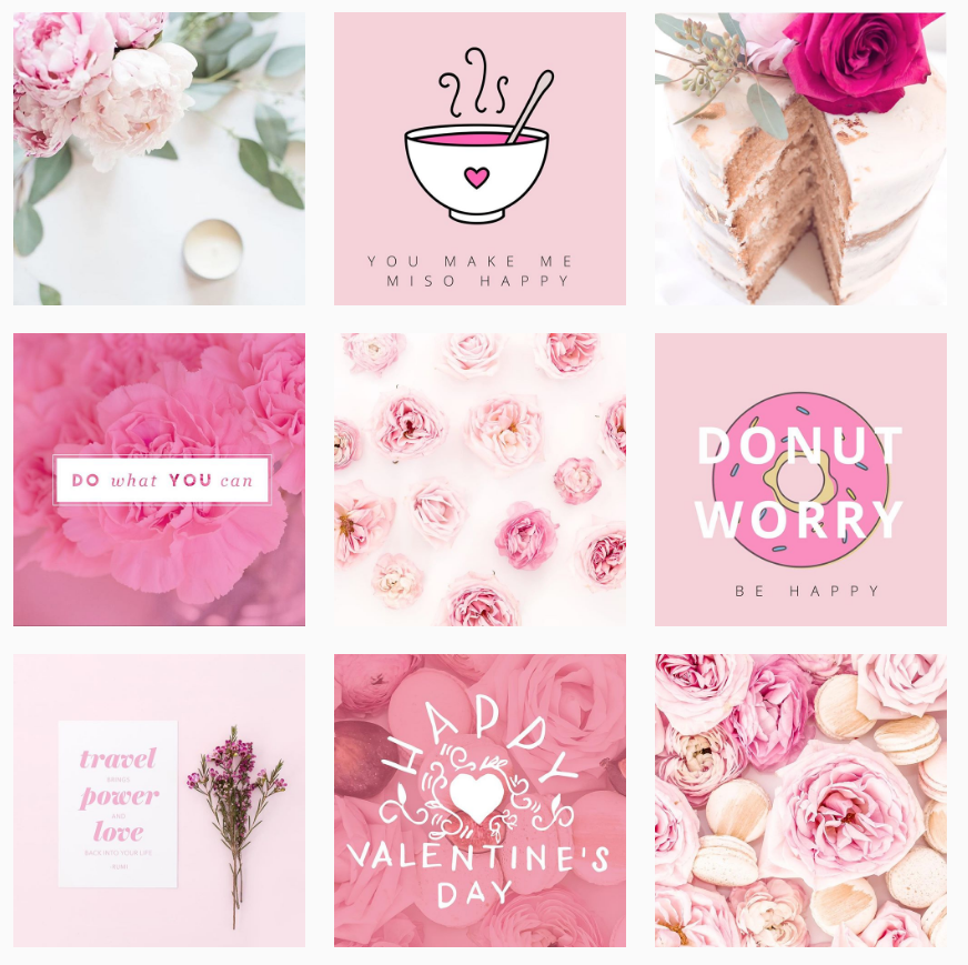 The Pink Instagram of Creative and Coffee