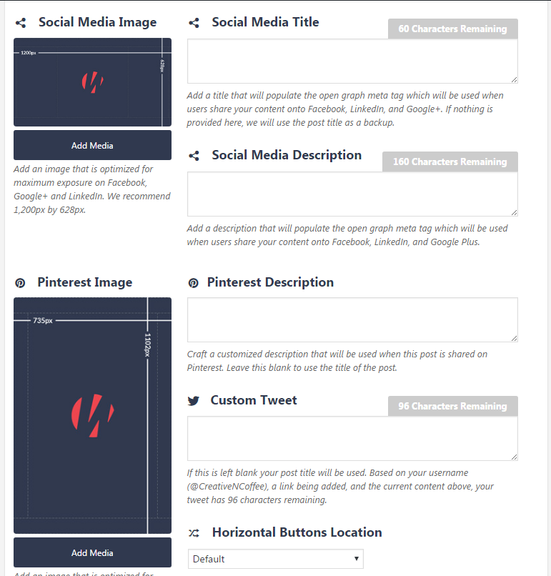 Social Warfare Example Screenshot