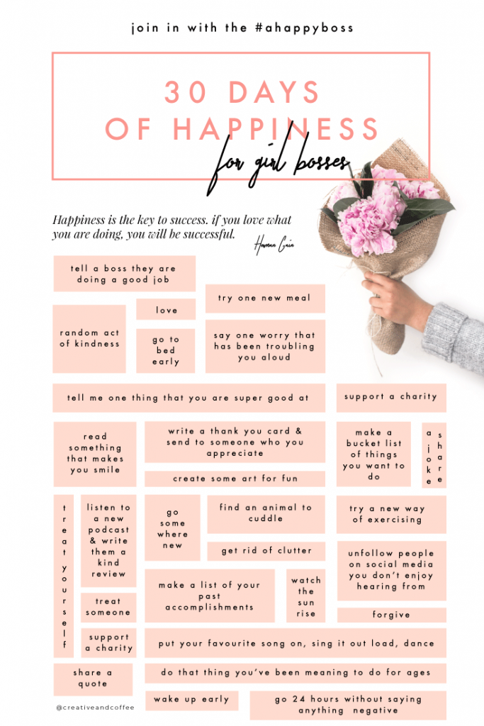 30 Days of Happiness Challenge for Bosses