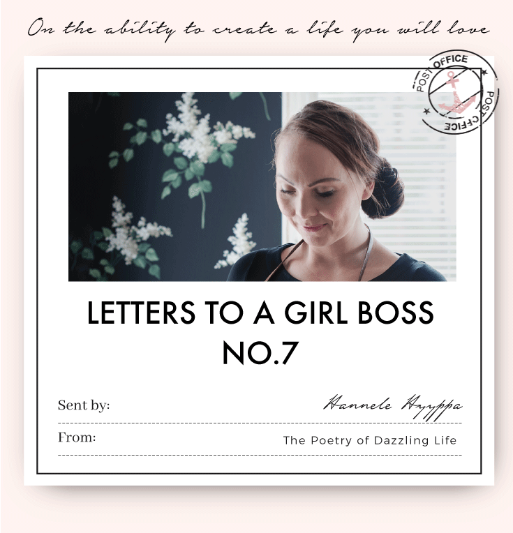 Letter No.7 from Hannele Hyyppä of the Poetry of Dazzling Life