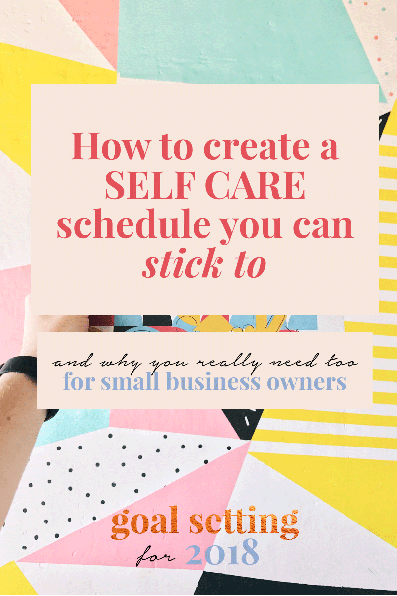 How to plan self-care into your schedule in 2018