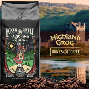 Bones Coffee Company Highland Grog Coffee Beans (Ground Coffee) Outlander