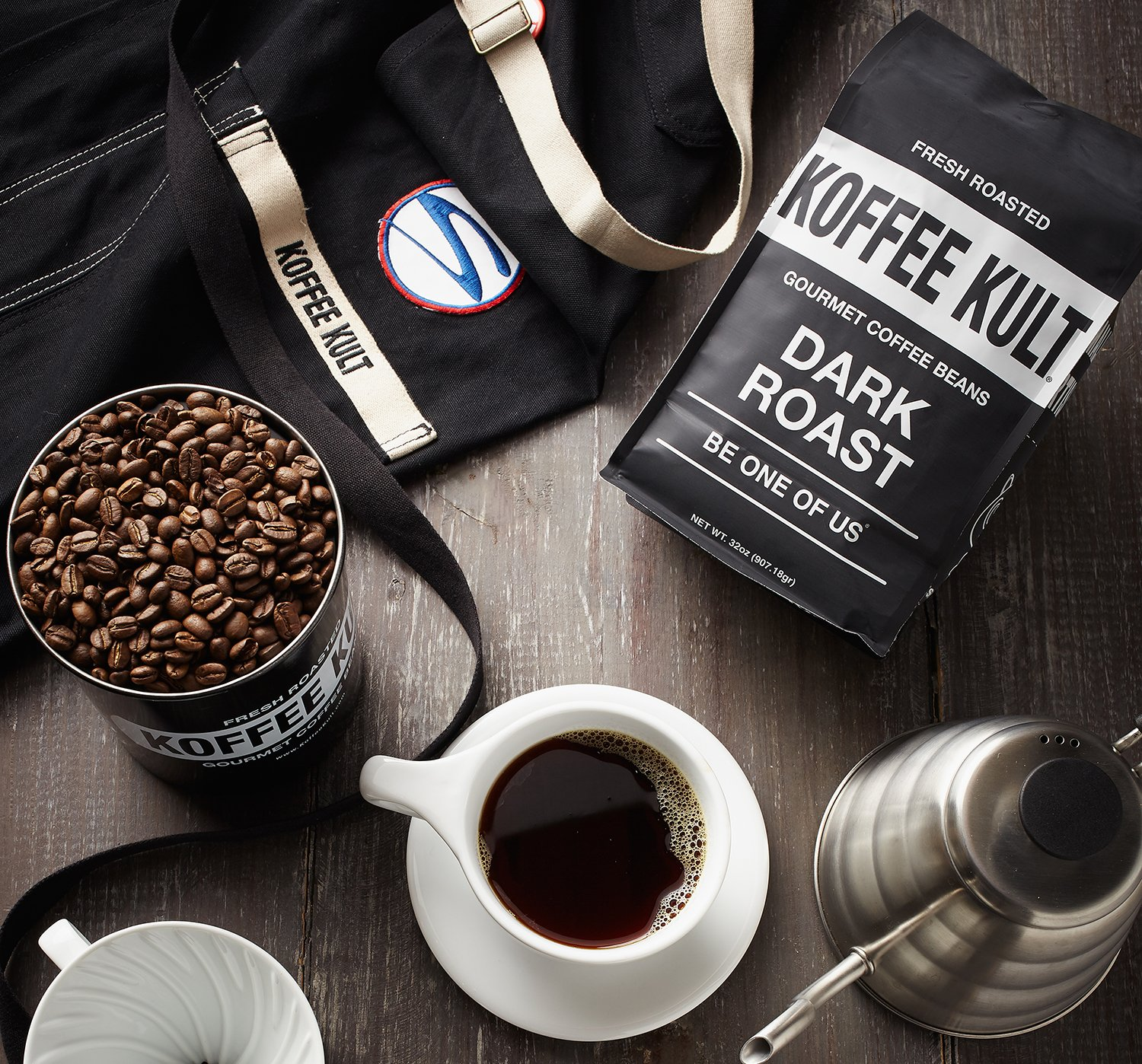 Koffee Kult Dark Roast Flatly