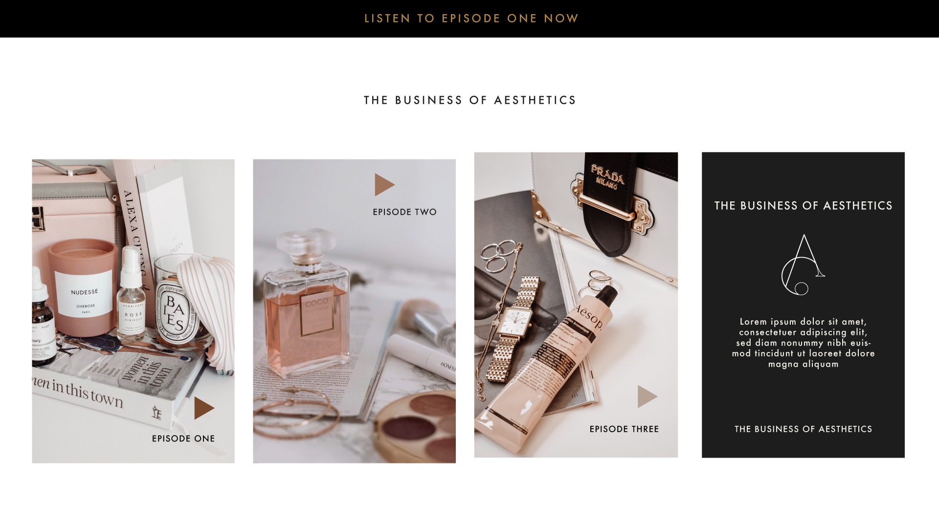 The Business of Asethetics Homepage