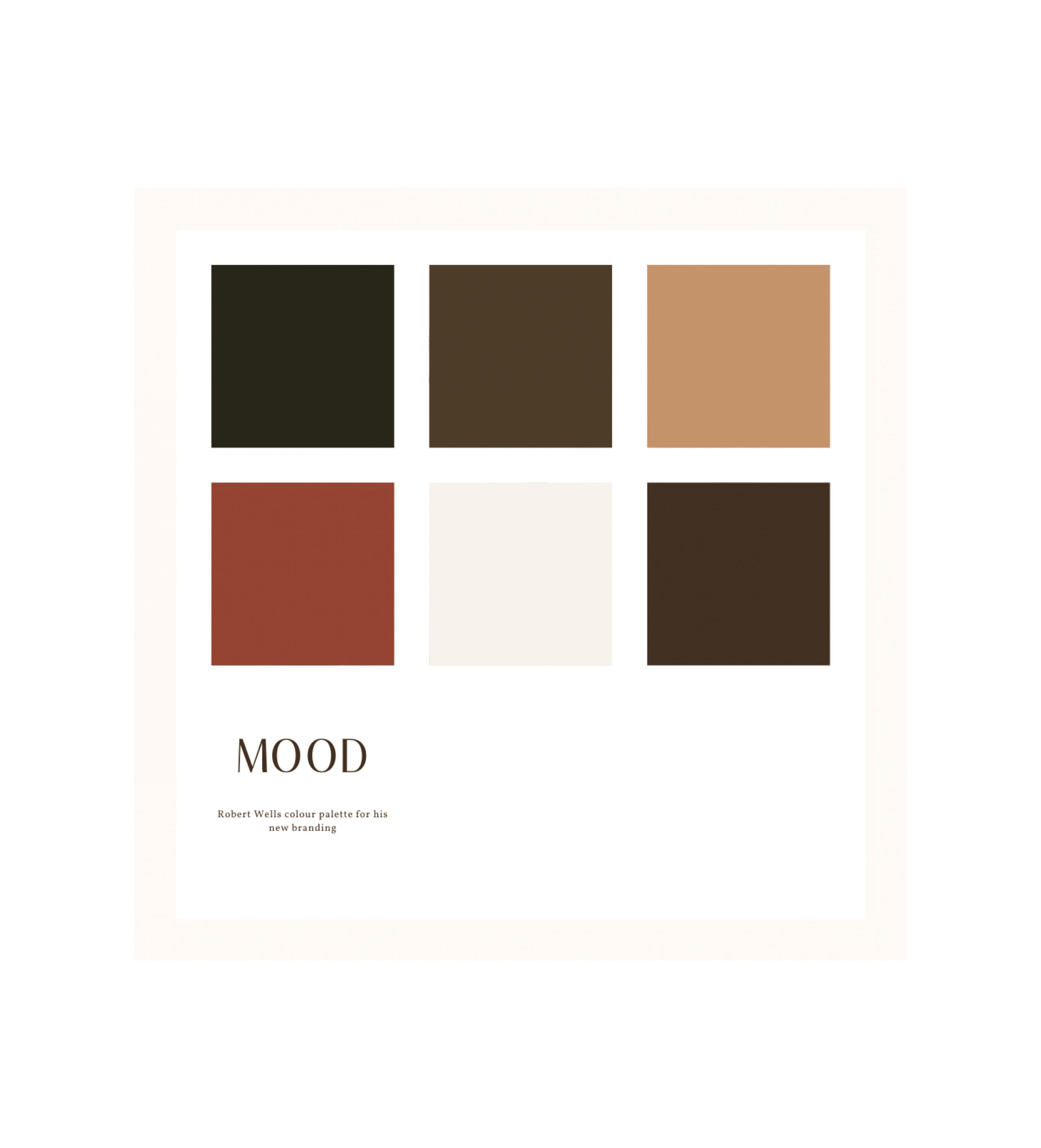 Robert Wells Branding Colour Palette