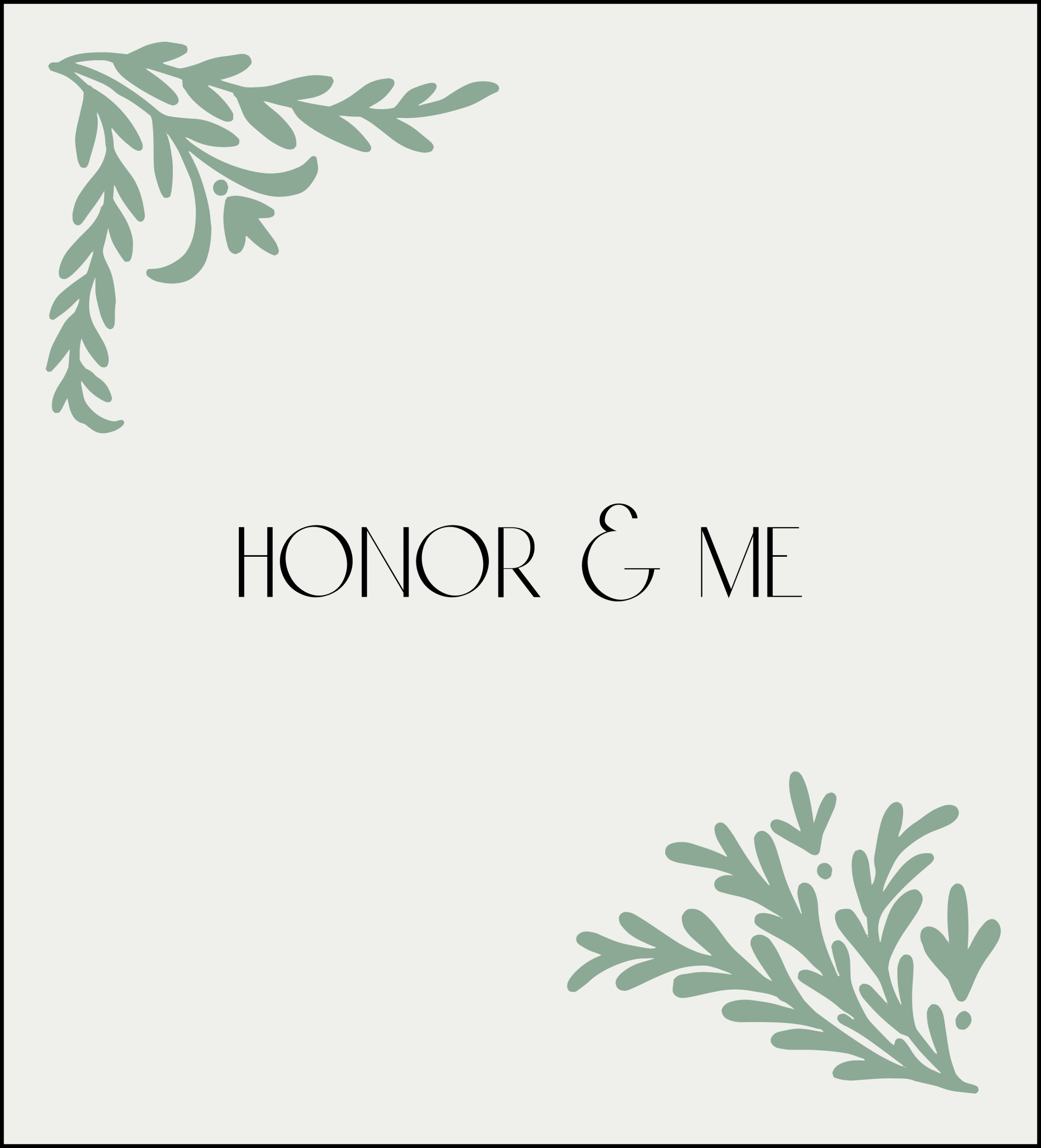 Honor and Me Website Design