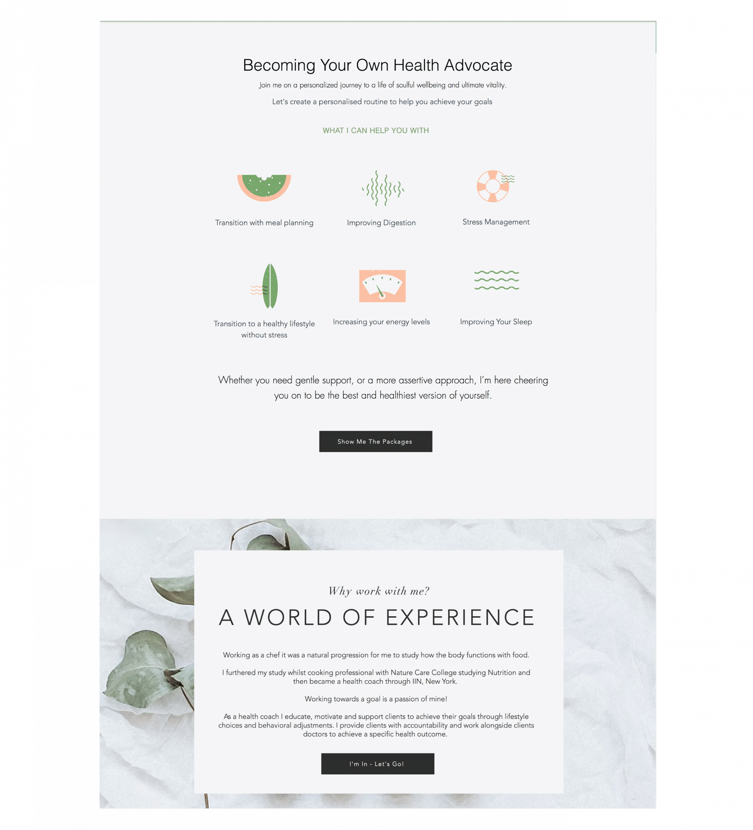Honor & Me Website Design Coaching Page 2