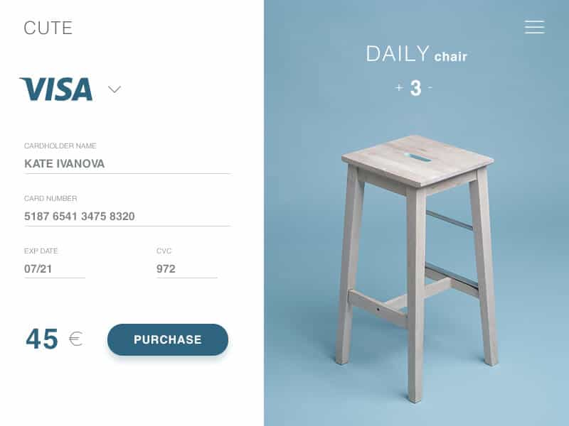 A simple checkout example for homeware
